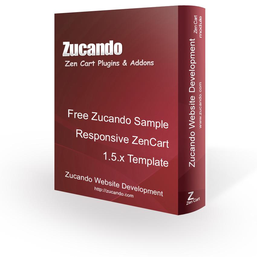 Free Zucando Sample Responsive ZenCart 15x Template