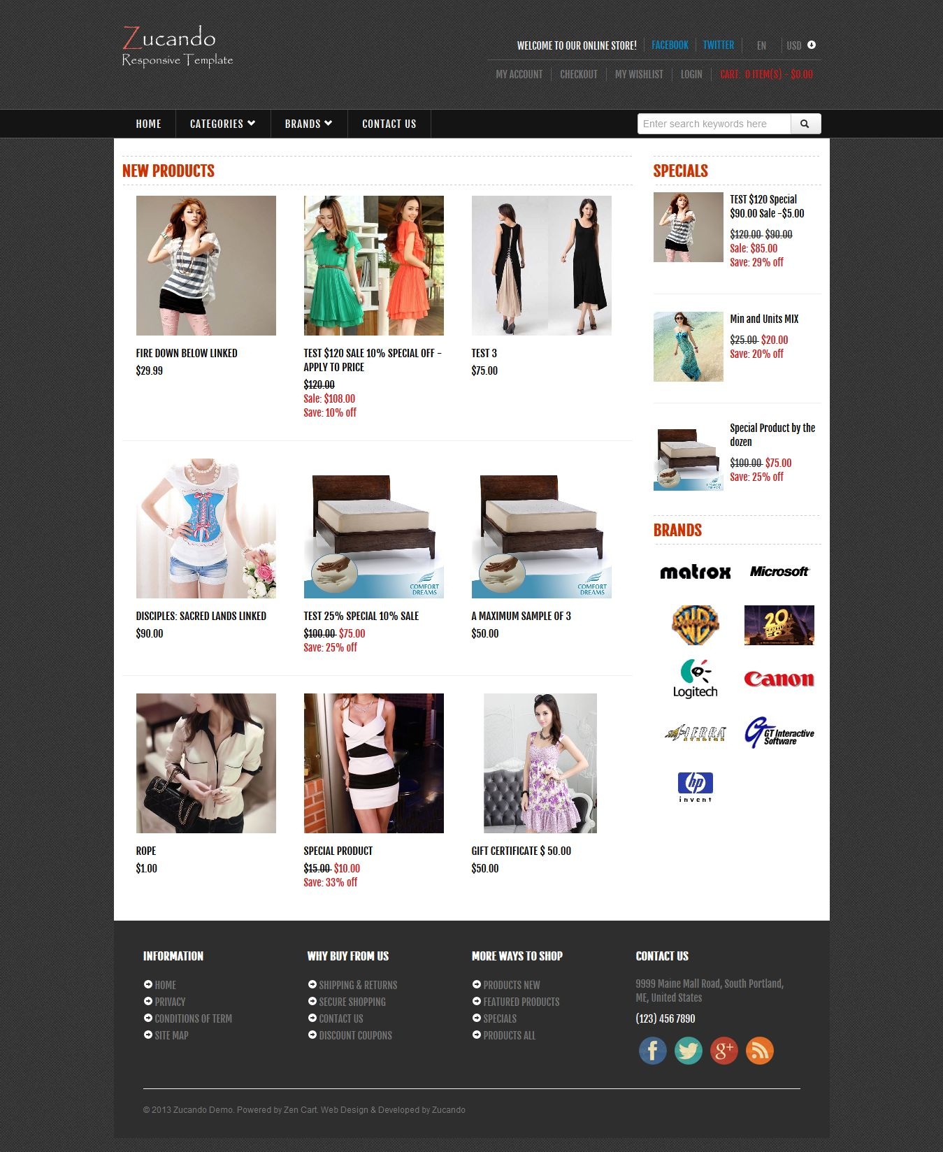 Responsive zucando fashion free zen cart templates for Free responsive zen cart templates